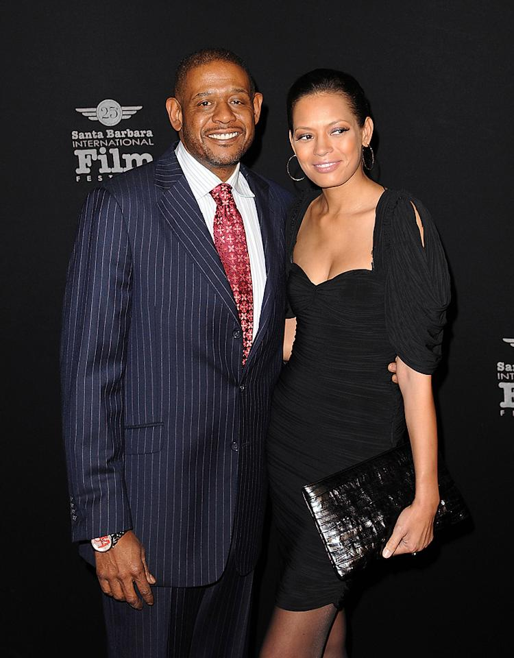 """<a href=""""http://movies.yahoo.com/movie/contributor/1800022007"""">Forest Whitaker</a> and Keisha Whitaker at the 25th Annual Santa Barbara Film Festival on Feburary 5, 2010"""