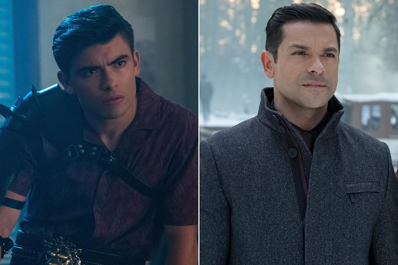 Did Mark Consuelos rent a time machine to play a younger version of himself? Seems totally plausible, but no! His son, Michael Consuelos, stepped in to play the younger version of his <em>Riverdale</em>character, Hiram Lodge.