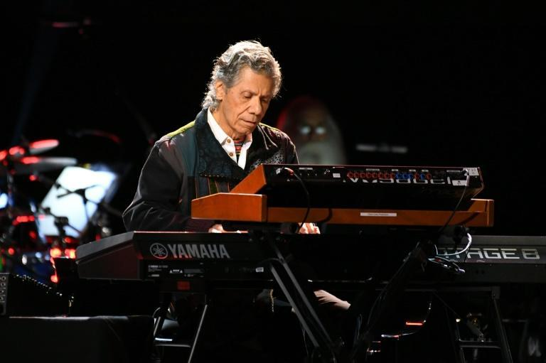 US jazz pianist Chick Corea -- seen here performing at the Grammys in 2020 -- won two posthumous awards