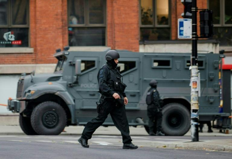 A heavy police presence was seen by the Ubisoft office in Montreal in response to a possible hostage-taking that local media later said was a hoax