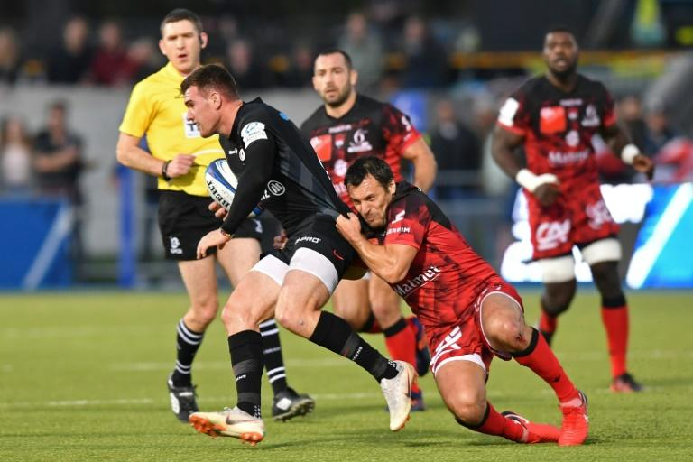 Lionel Beauxis and Lyons could not stop Saracens and Ben Spencer on Saturday