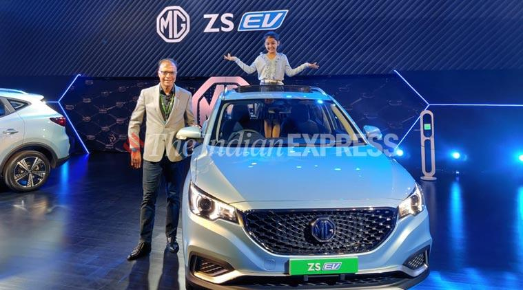 MG Motors MG ZS EV vehicle launched in India
