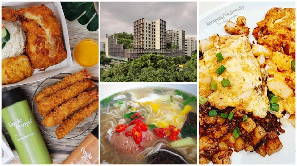 PHOTOS (CLOCKWISE FROM LEFT): INSTAGRAM/@UNCLEPENYET, GUO JIE (KAMPUNG ADMIRALTY HAWKER CENTRE EXTERIOR), INSTAGRAM/@BUTTERMERMAID AND @WANGYENLEE