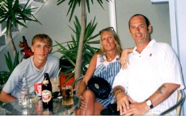 Pauline and Jim Green on holiday in Greece with Matt, aged 13 - Courtesy of Pauline and Jim