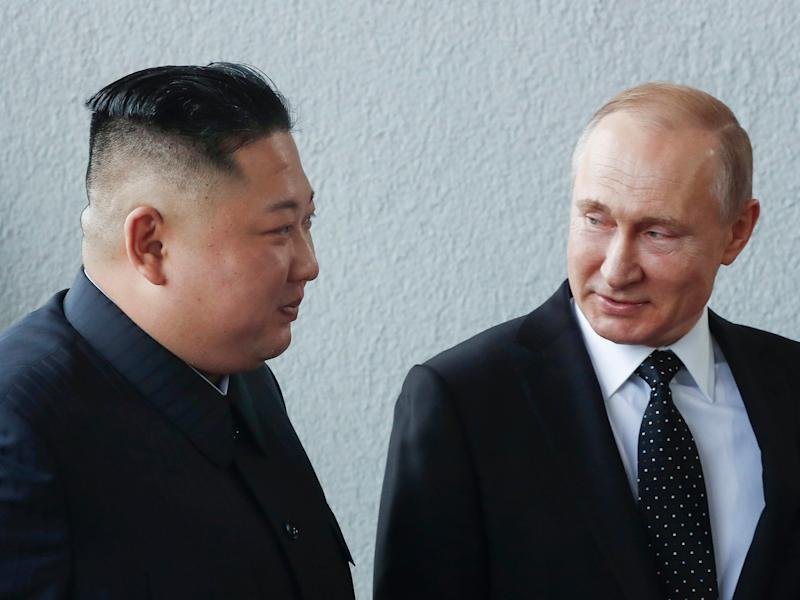 Putin offers help to break North Korea nuclear deadlock in first meeting with Kim Jong-un