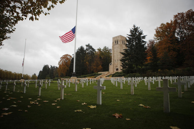 Trump cancels memorial visit to USA cemetery in France due to rain