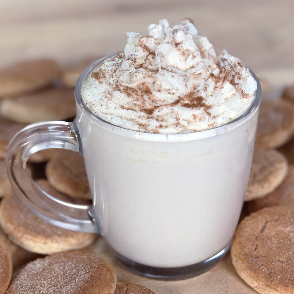 """<p>The perfect combination of sweet and spicy, the snickerdoodle cocoa is a great accompaniment for dunking your favorite treats inside.</p> <p><strong>Original Starbucks Food:</strong> <a href=""""https://stories.starbucks.com/stories/2016/snickerdoodle-hot-cocoa/"""" class=""""link rapid-noclick-resp"""" rel=""""nofollow noopener"""" target=""""_blank"""" data-ylk=""""slk:snickerdoodle hot cocoa"""">snickerdoodle hot cocoa</a></p> <p><strong>Homemade Version:</strong> <a href=""""https://www.popsugar.com/food/Copycat-Starbucks-Snickerdoodle-Hot-Cocoa-Recipe-42824500"""" class=""""link rapid-noclick-resp"""" rel=""""nofollow noopener"""" target=""""_blank"""" data-ylk=""""slk:snickerdoodle hot cocoa"""">snickerdoodle hot cocoa</a></p>"""