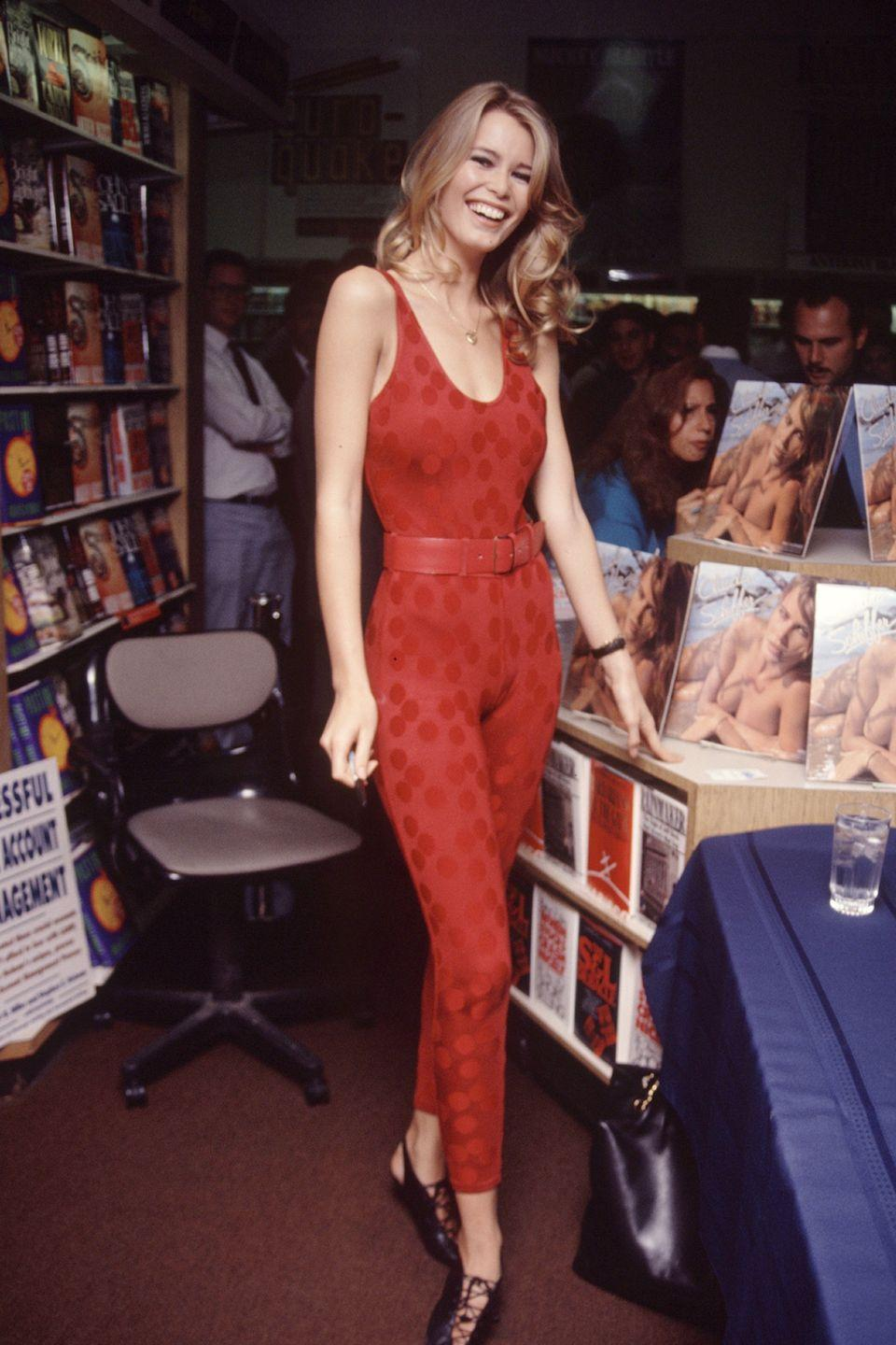 <p>Same as 18 - Another of my annual calendar signings dressed in the ultimate jumpsuit by none other than Azzedine Alaia.</p>