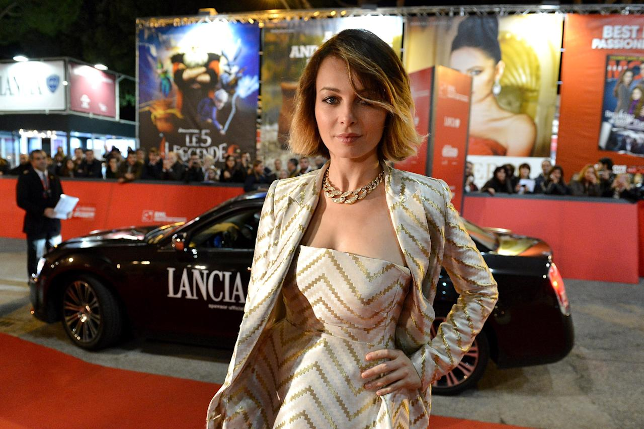 ROME, ITALY - NOVEMBER 14:  Violante Placido attends the 'E La Chiamano Estate' premiere during the 7th Rome Film Festival on November 14, 2012 in Rome, Italy.  (Photo by Tullio M. Puglia/Getty Images for Lancia)