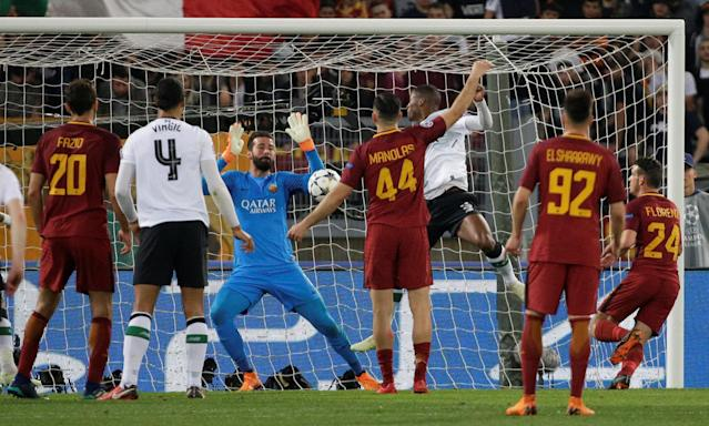 Soccer Football - Champions League Semi Final Second Leg - AS Roma v Liverpool - Stadio Olimpico, Rome, Italy - May 2, 2018 Liverpool's Georginio Wijnaldum scores their second goal REUTERS/Max Rossi