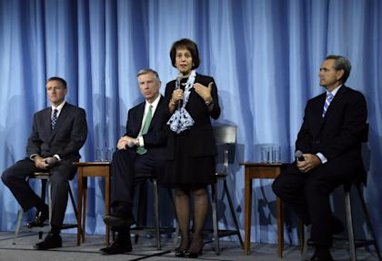 UNC Chancellor Carol Folt addresses the media following meeting in May. (AP)