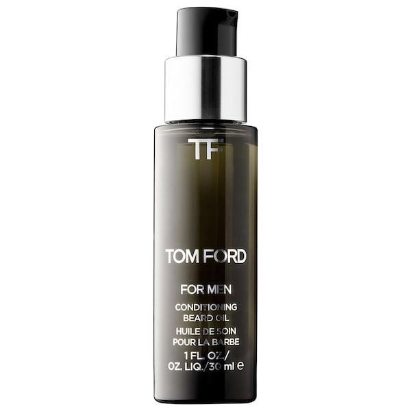 """<p>Love him, love his beard. And now, with this <span>Tom Ford Conditioning Beard Oil</span> ($57), you can truly show it with a nourishing blend of almond, jojoba, and grapeseed oils stashed inside. First, decide whether he'd be more into """"oud wood"""" or tobacco vanille,"""" and why not also throw in the <span>Tom Ford Beard Comb</span> ($40) while you're at it for the total grooming package?</p>"""