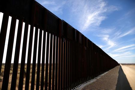 New bollard-style U.S.-Mexico border fencing is seen in Santa Teresa, New Mexico, U.S., March 5, 2019. REUTERS/Lucy Nicholson