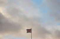 The Union Jack flag flutters in London