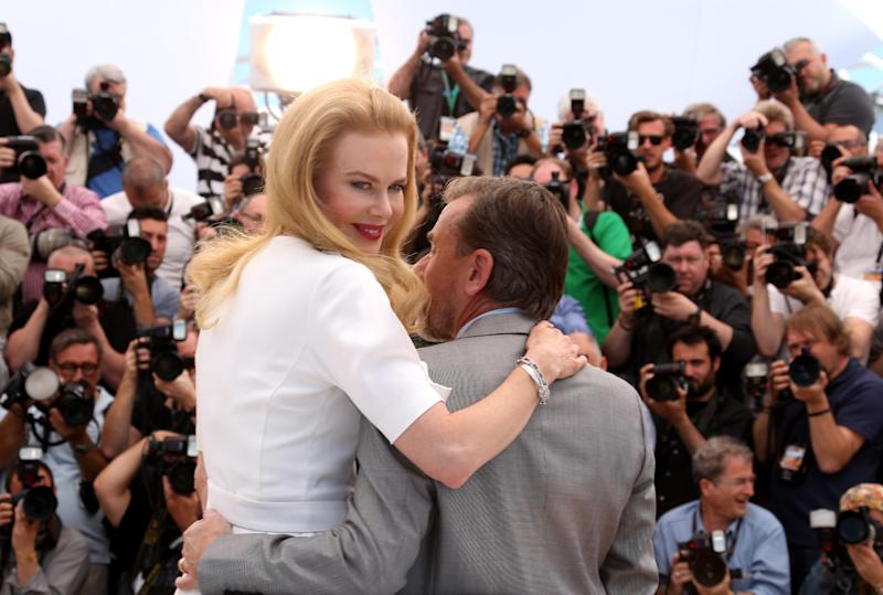 Actress Nicole Kidman, left, and actor Tim Roth pose for photographers during a photo call for the film Grace of Monaco at the 67th international film festival, Cannes, southern France, Wednesday, May 14, 2014. (Photo by Joel Ryan/Invision/AP)