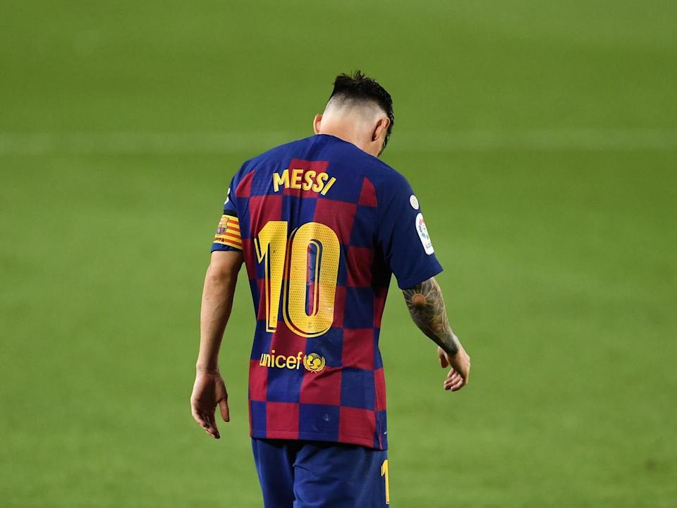Lionel Messi admitted the decision to stay at Barcelona was taken out of his hands: Getty Images