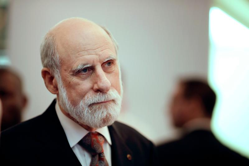 """Vint Cerf, Google's vice president and """"father of the internet,"""" was one of more than 20 tech luminaries whowrote a letter to lawmakers this week urging them to push the FCC to cancel its vote on net neutrality."""