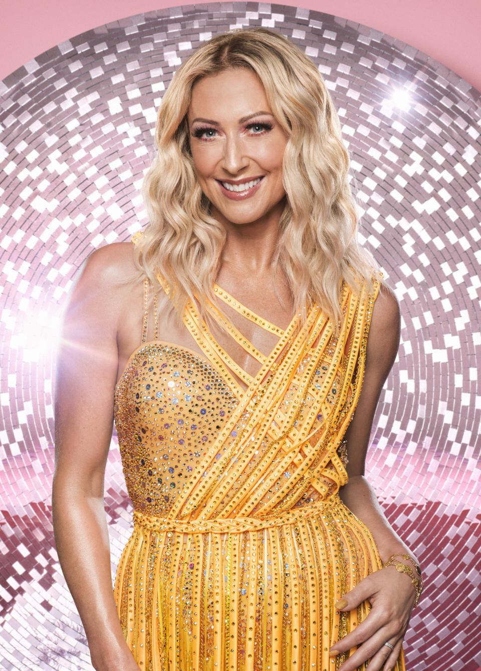 """<p>Steps band member Faye Tozer may have a dancing background but this hasn't stopped her joining this year's Strictly. """"I'm from Steps. I mean it was going to come up! Essentially it is an audience show and it is the audience that will decide. If you can dance or if you can't, they decide who they want to see on the telly and they will fall in love with who they fall in love with,"""" Tozer revealed. (BBC Pictures) </p>"""
