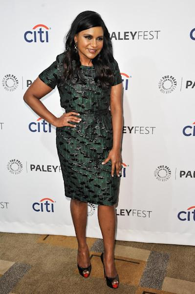 """FILE - In this Tuesday, March 25, 2014 file photo, Mindy Kaling arrives at PALEYFEST 2014 - """"The Mindy Project,"""" in Los Angeles. NBC says it's launching a national talent search for comedy writers with an initiative, dubbed """"NBC Comedy Playground,"""" that will give up to 10 finalists the chance to create pilots and a formal presentation. The top two ideas will be picked by a celebrity advisory board including Eva Longoria, Sean Hayes, Kaling and Seth Meyers. (Photo by Richard Shotwell/Invision/AP, file)"""