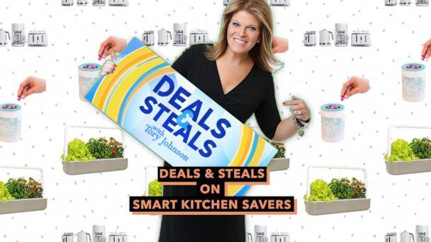 PHOTO: Deals & Steals on smart kitchen savers (ABC News Photo Illustration, Russell Hobbs, Happy Wax, Click and Grow)