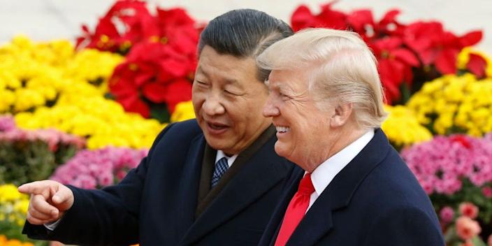 Trump with Chinese President Xi Jinping.