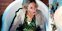 """<p><em>The Office</em>'s John Krasinski stars in and directs this muted creature feature, which also stars his real-life wife, Emily Blunt, in a commanding performance that peaks while silently giving birth in a bathtub. She can't moan or groan because she, and what's left of civilization, are being stalked by amaurotic monsters who hunt only by sound. <a class=""""link rapid-noclick-resp"""" href=""""https://go.redirectingat.com?id=74968X1596630&url=https%3A%2F%2Fwww.hulu.com%2Fmovie%2Fa-quiet-place-dd89e42d-56b8-497e-b108-bbc0ac89c82f&sref=https%3A%2F%2Fwww.harpersbazaar.com%2Fculture%2Ffilm-tv%2Fg10247453%2Fbest-scariest-horror-movies%2F"""" rel=""""nofollow noopener"""" target=""""_blank"""" data-ylk=""""slk:Watch Now"""">Watch Now</a></p>"""