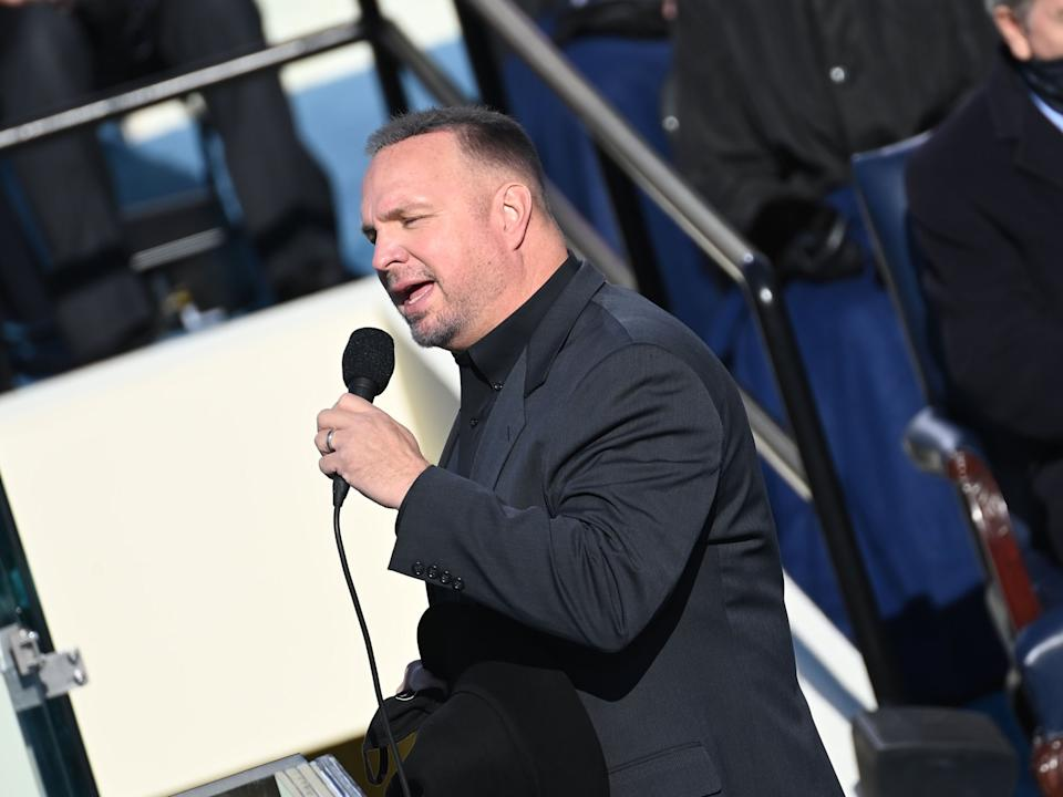 <p>Garth Brooks's favorability rating drops after inauguration performance</p> (Getty Images)
