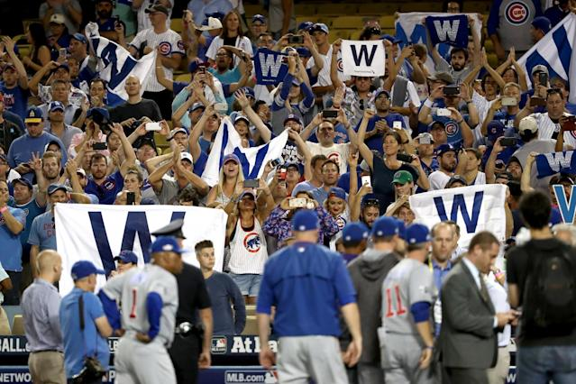 The Chicago Cubs return to Dodger Stadium this weekend for the first time since last October. (Getty Images)