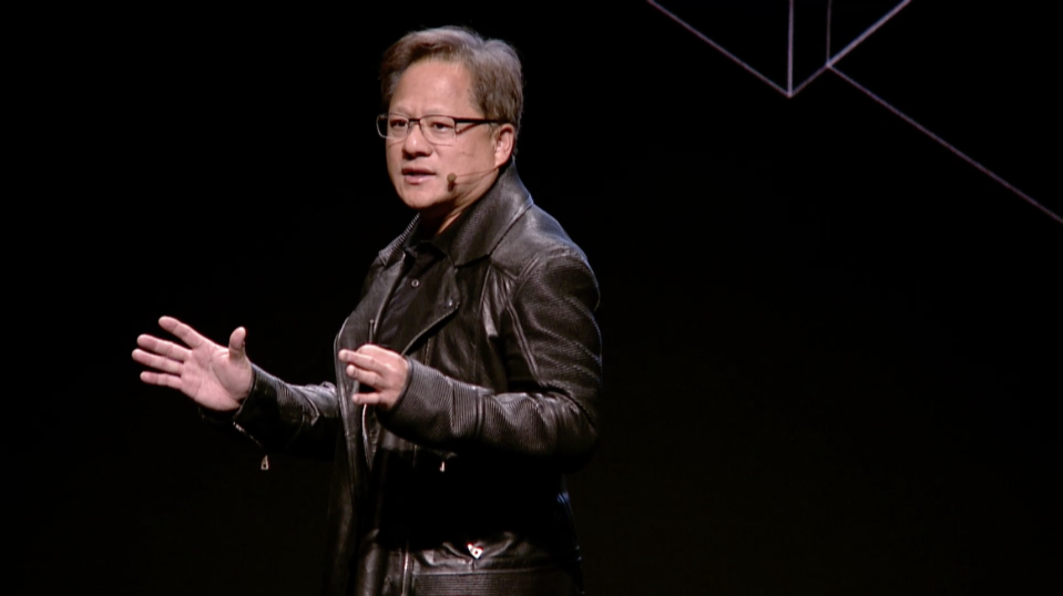 Nvidia CEO Jensen Huang on Monday in Cologne, Germany.