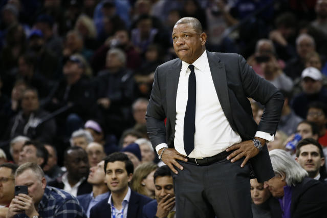 The Clippers' Doc Rivers is the dean of African-American NBA head coaches. (AP Photo/Matt Slocum)