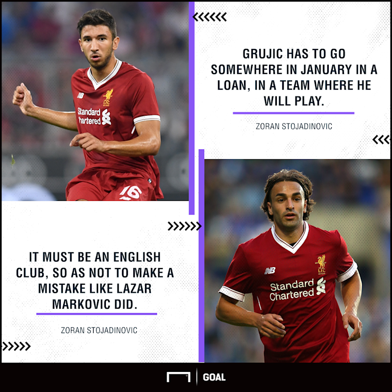 Grujic urged to find Liverpool exit but avoid Markovic mistake