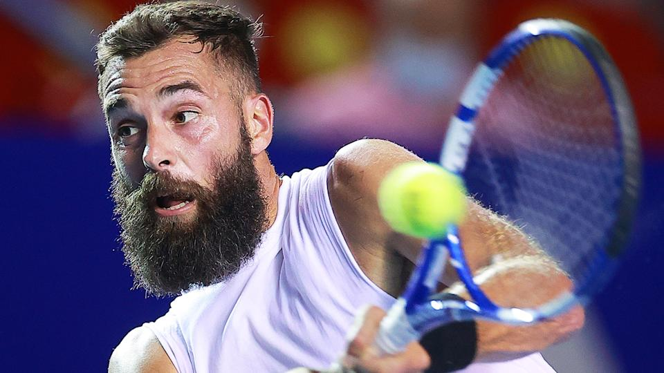 Benoit Paire's stated disinterest in reaching ATP finals or making deep tournament runs has sparked outrage. (Photo by Hector Vivas/Getty Images)
