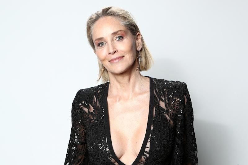 LOS ANGELES, CALIFORNIA - FEBRUARY 09: Sharon Stone attends IMDb LIVE Presented By M&M'S At The Elton John AIDS Foundation Academy Awards Viewing Party on February 09, 2020 in Los Angeles, California. (Photo by Rich Polk/Getty Images for IMDb)