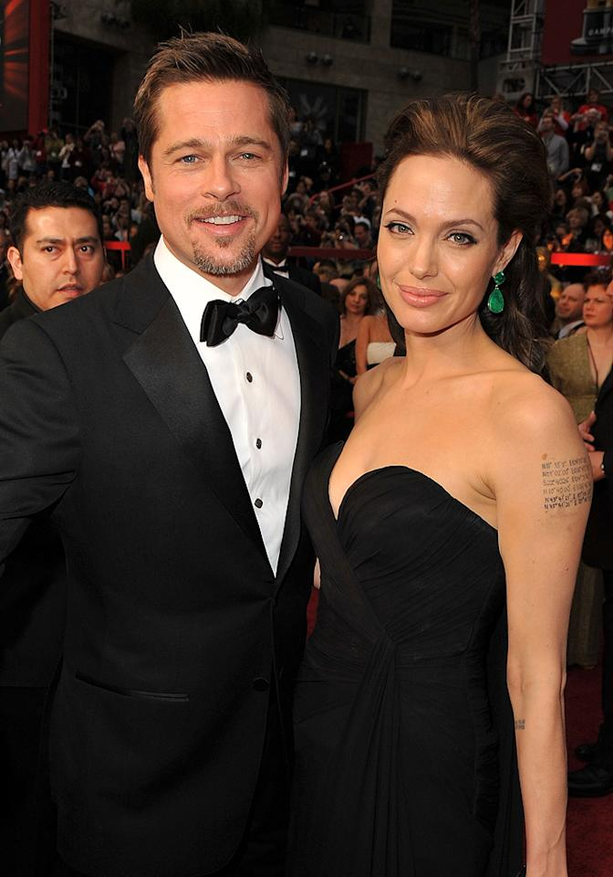 Brad Pitt and Angelina Jolie at the 81st Annual Academy Awards - Feb. 22, 2009