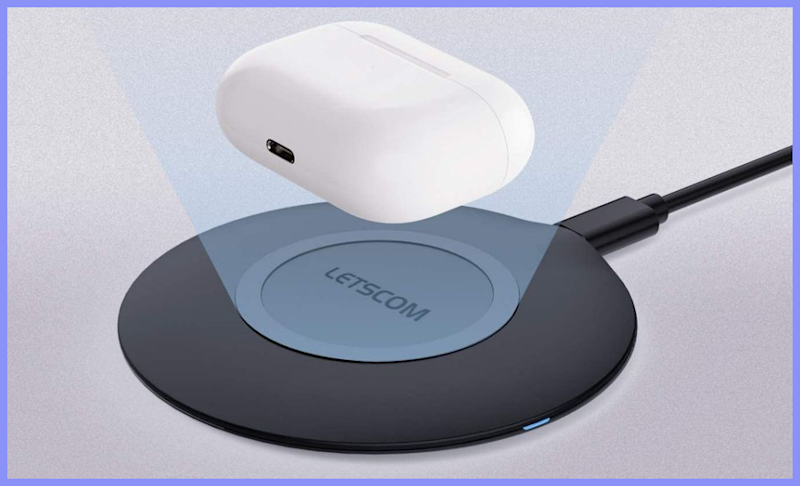 Charge your phone with this Letscom Ultra Slim Wireless Charger. (Photo: Amazon)