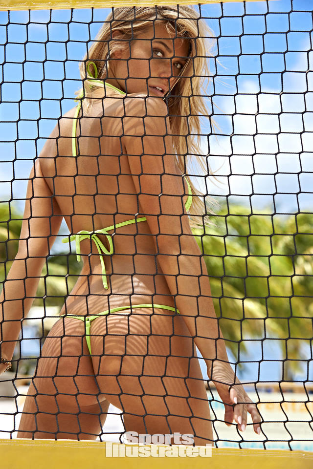 <p>Samantha Hoopes was photographed by Ben Watts in Curacao. Swimsuit by TeenyB Bikini Couture.</p>