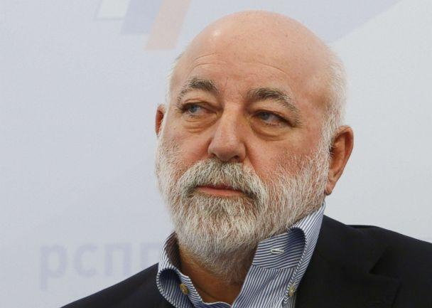 PHOTO: Renova Group Chairman Viktor Vekselberg attends a session during the Week of Russian Business, held by the Russian Union of Industrialists and Entrepreneurs (RSPP), in Moscow, Feb. 7, 2018.  (Sergei Karpukhin/Reuters)