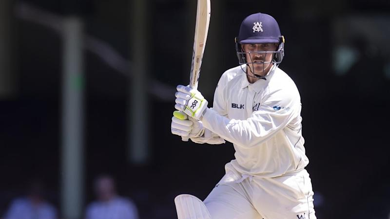 Nic Maddinson was dismissed for 95 in Victoria's Sheffield Shield innings against NSW at the SCG