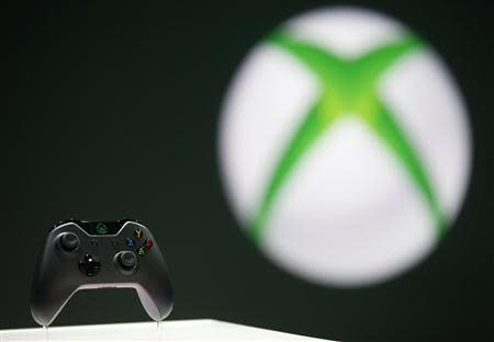 File photo of the Xbox One controller during a press event unveiling Microsoft's new Xbox in Redmond