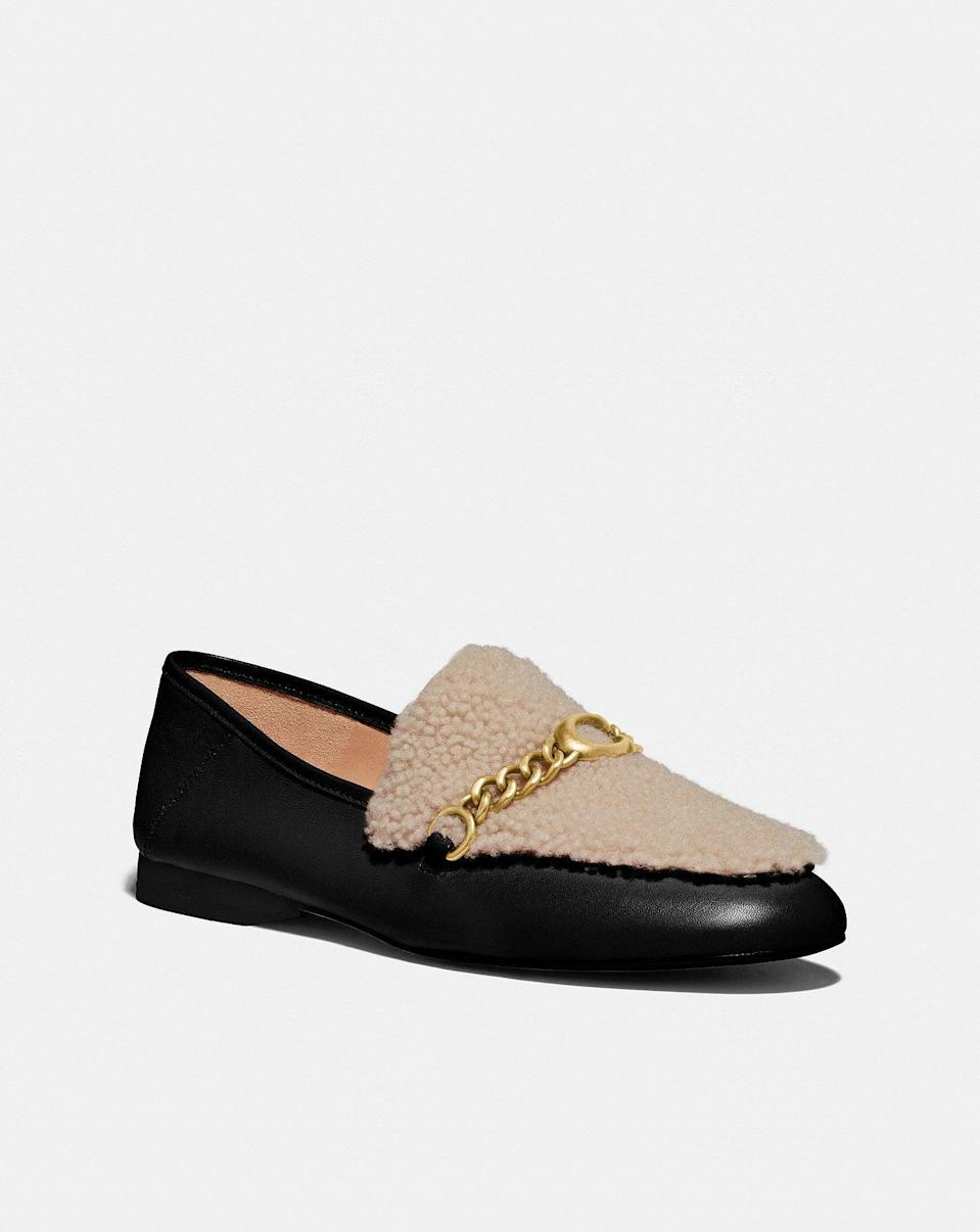<p>Imagine pairing this <span>Helena Loafer</span> ($150) with thick socks? Peak cozy.</p>
