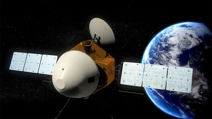 china mars global remote sensing and small rover tianwen hx 1 martian mission spacecraft illustration rendering cas xinhua