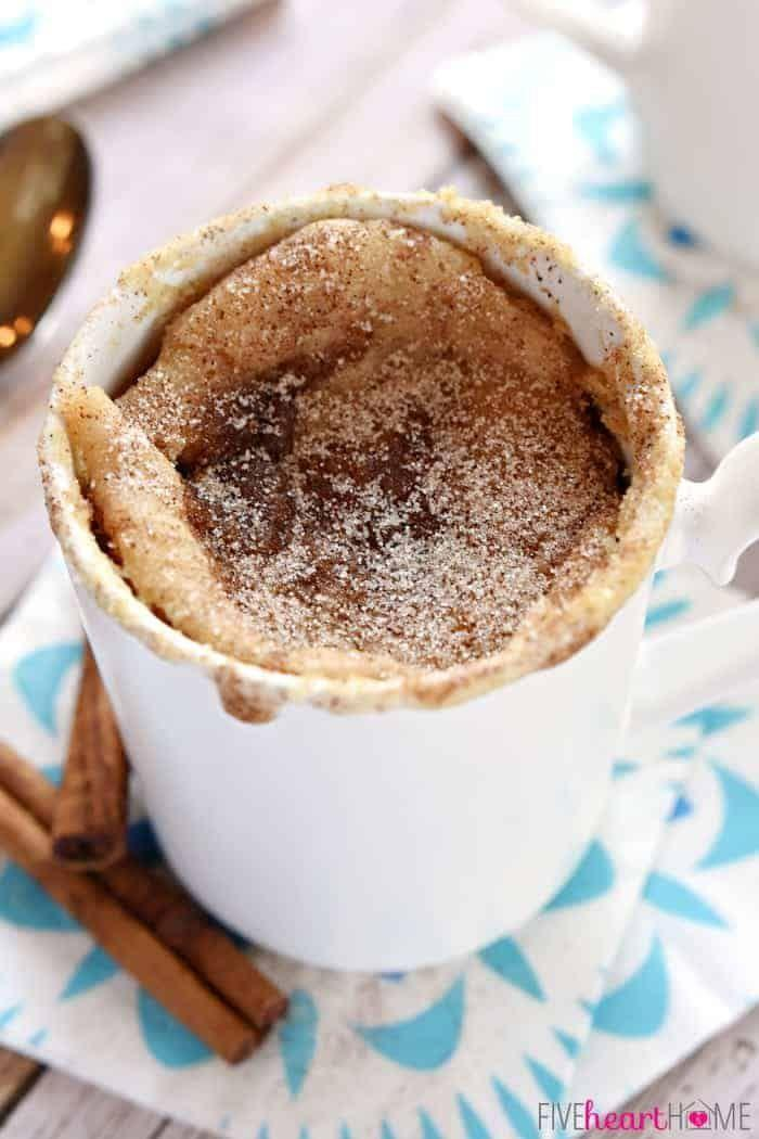 """<p>When you want a late-night treat, but don't want to whip out the mixer, this single-serve snickerdoodle-flavored treat will do just the trick. </p><p><a href=""""https://www.fivehearthome.com/snickerdoodle-mug-cake/"""" rel=""""nofollow noopener"""" target=""""_blank"""" data-ylk=""""slk:Get the recipe"""" class=""""link rapid-noclick-resp"""">Get the recipe</a>.</p>"""