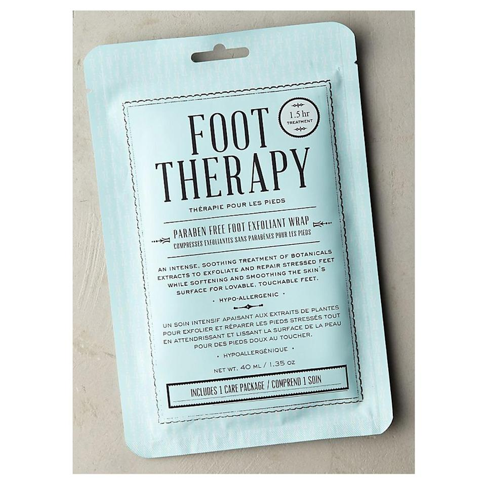 <p>The self-care treat for anyone who's on their feet all day, this luxurious, exfoliating foot mask is packed with botanical essences to soften, smooth, and hydrate tired feet in need of some love. </p>