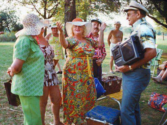 <p>Park revelers, Pelham Bay Park, the Bronx. (Photograph by Joyce Dopkeen/NYC Parks Photo Archive/Caters News) </p>