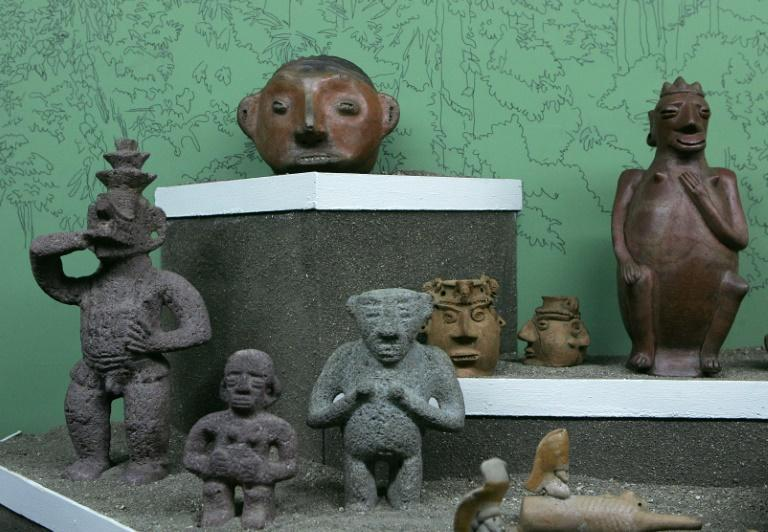 The figurines include representations of warriors and animals, along with hand-crafted spheres and grinding stones made by indigenous people who had lived in Costa Rica for thousands of years