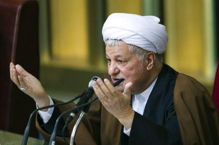 Former Iranian president Akbar Hashemi Rafsanjani gives the opening speech during Iran's Assembly of Experts' biannual meeting in Tehran