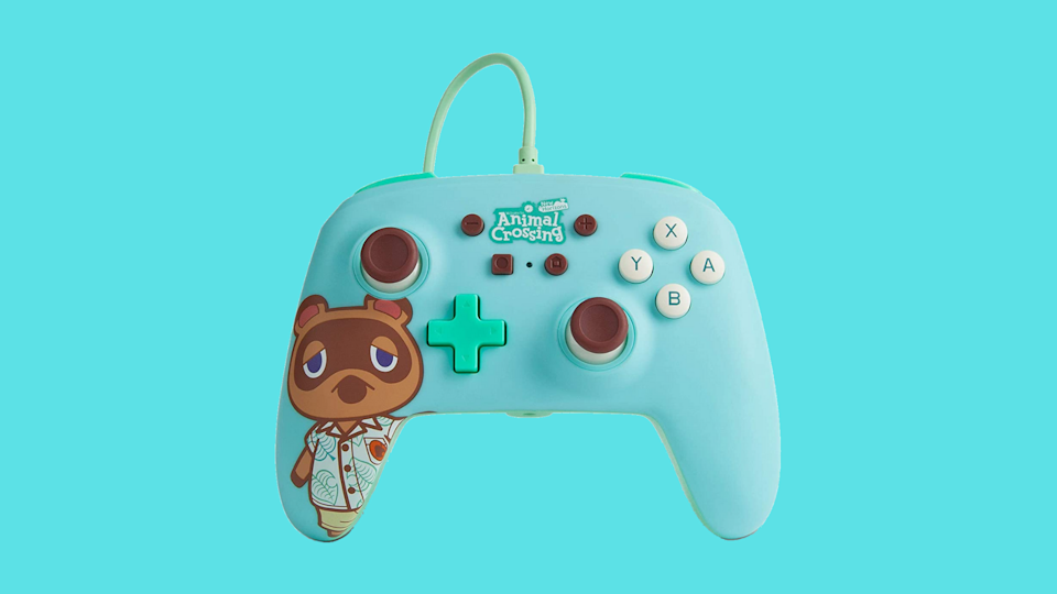 Pre-order Animal Crossing: Tom Nook PowerA Enhanced Wired Controller for Nintendo Switch. (Photo: Amazon)