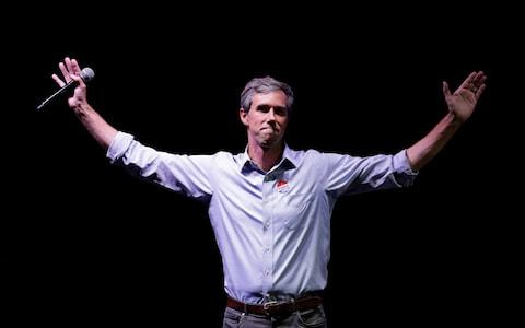 U.S. Rep. Beto O'Rourke, the 2018 Democratic Candidate for U.S. Senate in Texas, makes his concession speech at his election night party - Credit: AP