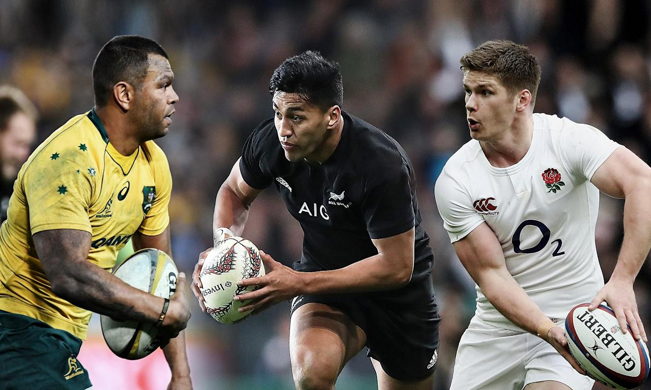 Australia's Kurtley Beale, New Zealand's Rieko Ioane and Owen Farrell of England are likely to be major players at the Japan 2019 World Cup.