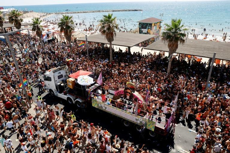 Organisers called the Tel Aviv Pride event the 'largest parade of its kind held worldwide since the outbreak of Covid-19'
